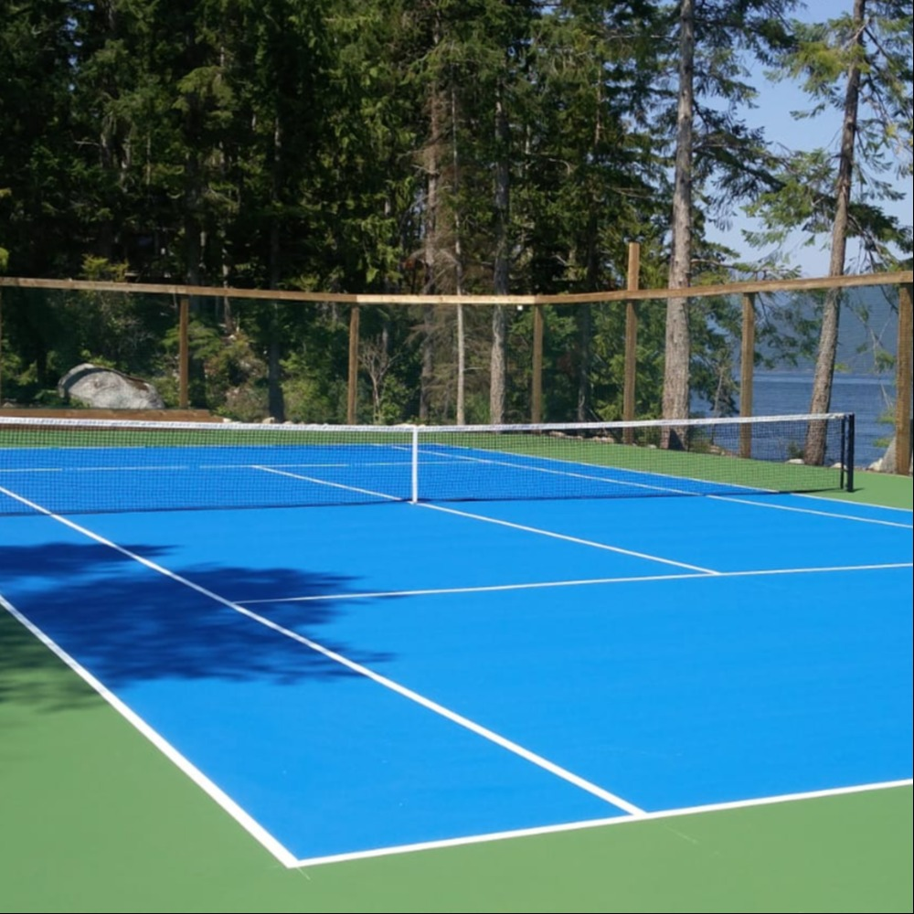 Gulf Island Tennis Court Resurfacing