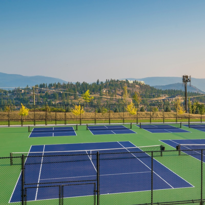 Okanagan Tennis Court Resurfacing