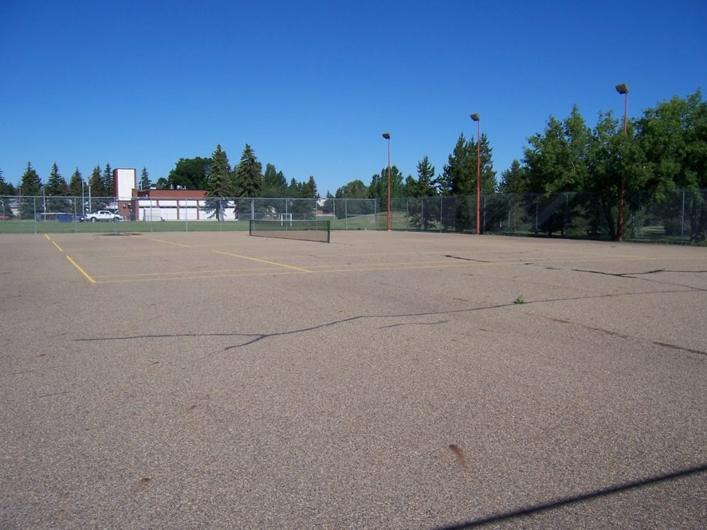 Before Picture Pickleball Courts