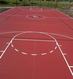 Red Basketball Court